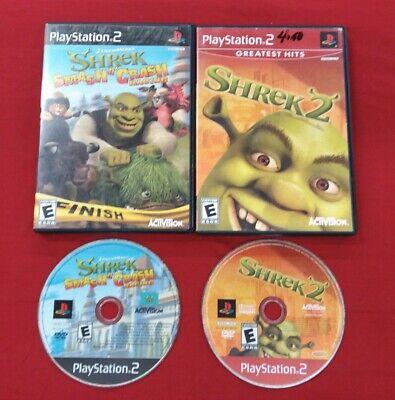 Playstation 2 Ps2 Game Lot Shrek 2 Two Ii And Smash N Crash Racing Kart Cart 47875752771 Ebay