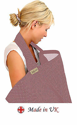 BebeChic * Plum * 100% Cotton * + Bag * BREASTFEEDING COVER Nursing Apron