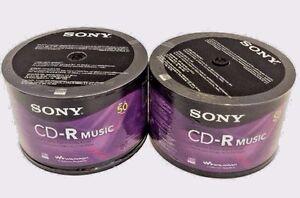 100-SONY-Blank-Music-CD-R-Branded-80min-Digital-Audio-Disc-100-Sleeves-PRIORITY