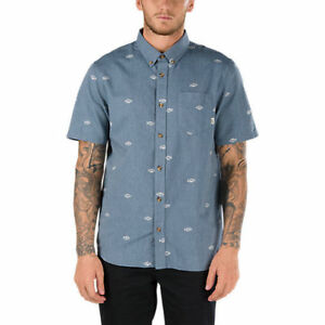 Vans-Off-The-Wall-Men-039-s-Dress-Blue-Houser-S-S-Woven-Shirt-Retail-44-50