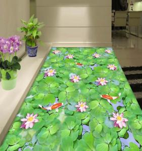 3D Green Lotus 74 Floor WallPaper Murals Wall Print Decal AJ WALLPAPER CA Carly