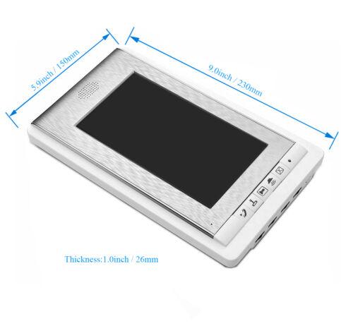 "2 Units Apartment intercom system 7/"" Monitor Video Intercom Door Phone ID Keyfob"