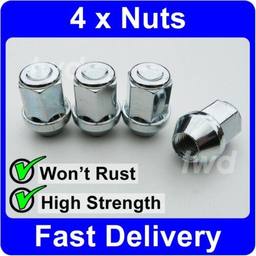 4 X DADI CERCHI IN LEGA per KIA M12x1.5 Argento LUG Stud Bolt Set 19MM HEX V10