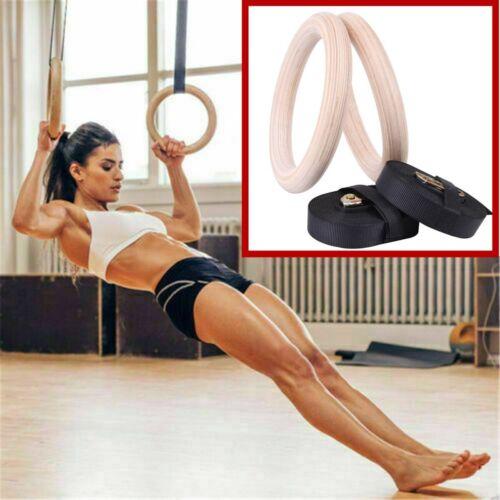 Gymnastikringe Gym Gymnastic Ringe Holz Trainingsringe Turnringe fitnessringe
