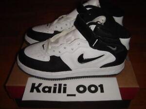 Nike Air Force 1 MID SC (BG) Jewel White Black Lizz OG B | eBay