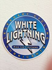 White Lightning Lubricants Bicycle Cycling Sticker Decal