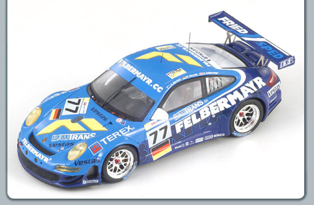 1/43 PORSCHE 911 GT3 RSR 997 Team Felbermayr LE MANS 24 ore 2008  77
