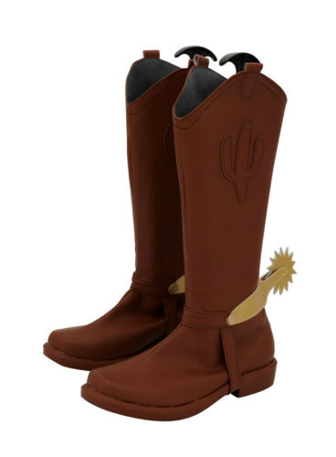 Toy Story Woody Schuhe shoes Stiefel Boots Cosplay Costume Kostüme Braun Brown