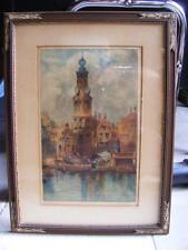 """Louis Whirter """"Amsterdam"""" Original Etching Limited Signed & Titled Early 1900's"""