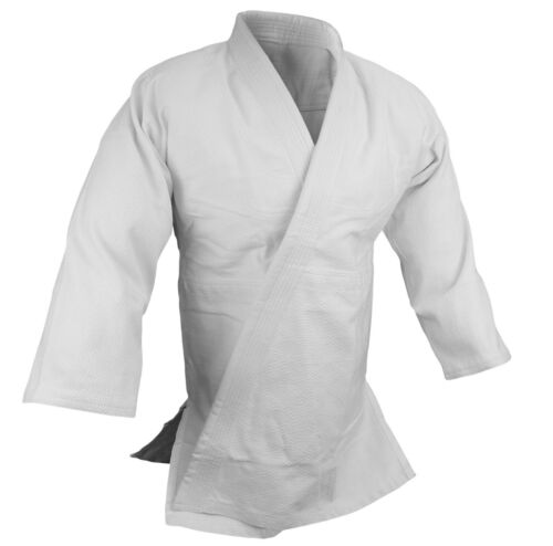 BJJ Gi Kimono Jiu Jitsu  Uniform Blue//White//Black set 100/% cotton Preshrunk