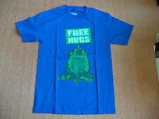 Shirt Punch - Free Hugs - blau blue - Glow in the Dark - S