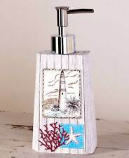 Nautical Sealife Coral  Lighthouse Soap/Lotion Pump Starfish Bathroom Accessory