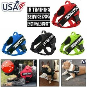 Dog-Pet-Harness-Reflective-Service-Puppy-Outdoor-Walk-Training-Emotional-Vest-US