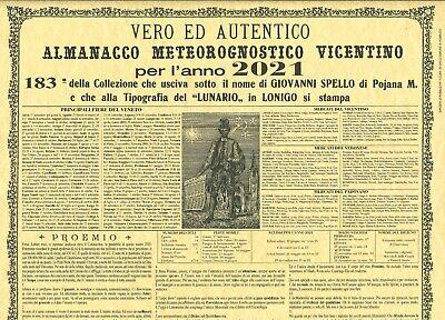 Calendario Poiana 2021 ALMANACCO ANNUALE meteorognostico VICENTINO 2021 PERGAMENA POJANA