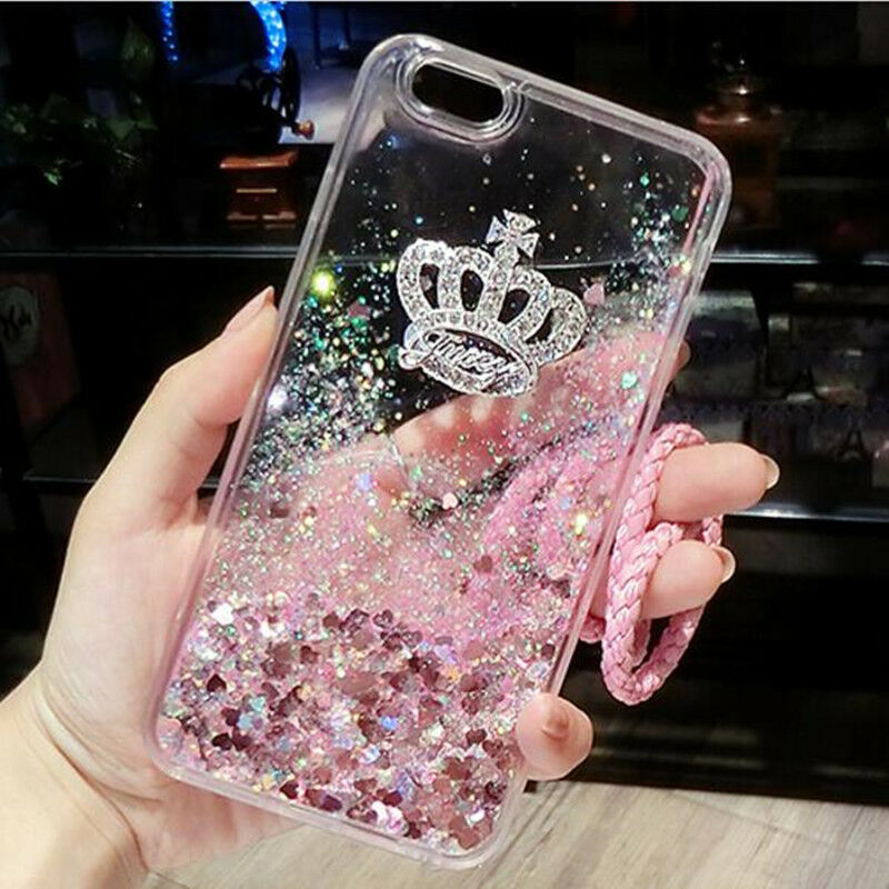 best service c4872 efb34 Girls Bling Glitter Sparkle Liquid Quicksand Case Cover For iPhone X 6 7+ 8  Plus