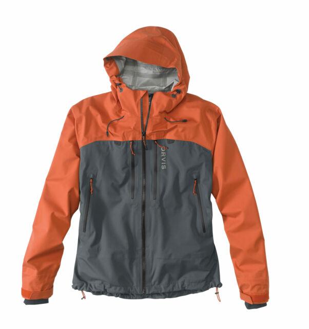 Orvis Ultralight Wading Jacket-Large-Burnt Orange//Ash