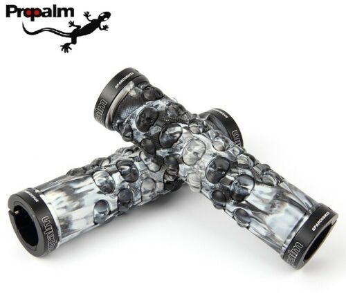 Propalm Skull rubber MTB Road XC bike flat bar Grip Lock on Handlebar Grips