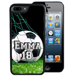 PERSONALIZED-RUBBER-CASE-FOR-iPHONE-6-6s-7-8-X-Plus-SOCCER-PLAYER