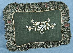 Ralph-Lauren-Rutherford-Park-Green-Tapestry-Embroidered-Custom-Pillow-14x10