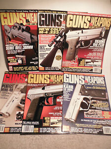 LOT of 6 GUNS & WEAPONS FOR LAW ENFORCEMENT MAGAZINES - 1996,1997,1998,1999