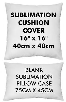 Blank Sublimation Print Pillow Case / Cushion Cover Soft Polyester