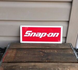SNAP-ON-RACING-TOOL-Mechanic-Body-Shop-Logo-Garage-METAL-SIGN-5x12-50067