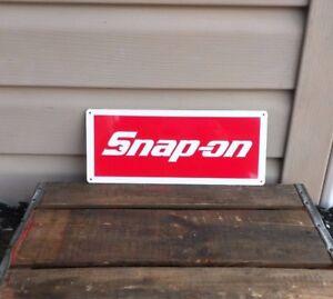 SNAP-ON-RACING-TOOL-Mechanic-Body-Shop-Logo-Garage-METAL-SIGN-5x12-50067