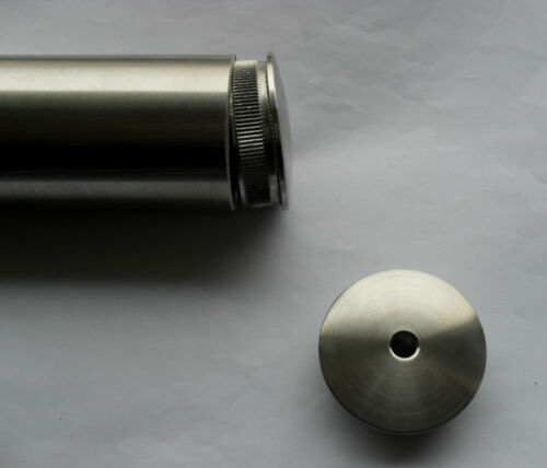 Edelstahl Rohrstopfen gewölbt M8 V2A 42,4 VA 33,7 Endkappe Abschluss Deckel