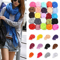 Fashion Girl Candy Color long soft silk chiffon scarf Wrap Shawl Pashmina Scarf