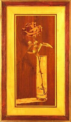 Wine still life wood home decor kitchen wooden wall art boho style marquetry