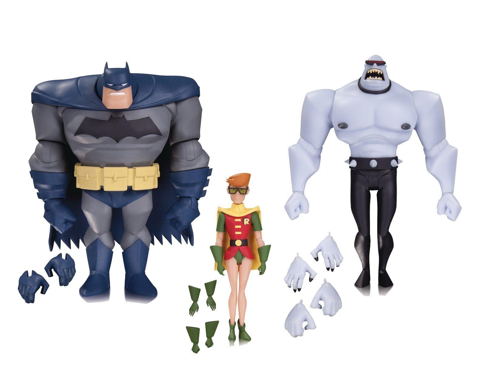 Batman Animated Batman Robin Mutant 3 Pack Action Figures - UK Seller