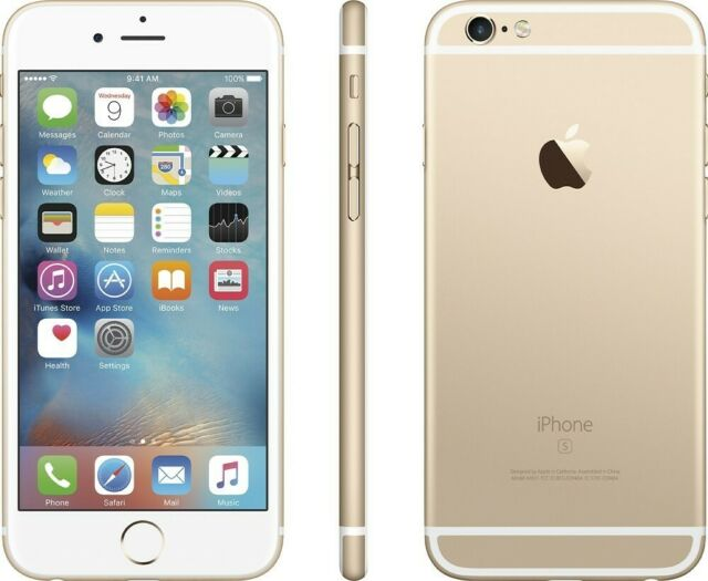 Apple iPhone 6S A1688 16GB Gold (GSM Unlocked) Clean IMEI Passcode Locked #1676