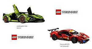 Lego Technic 42115 Lamborghini Sián FKP 37 + 41125 Ferrari 488 GTE AF CORSE #51