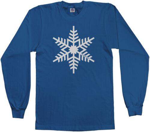 Threadrock Kids White Snowflake Youth Long Sleeve T-shirt Winter Christmas