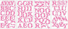 PINK ALPHABET LETTERS wall sticker 73 decal school decor nursery personalize ABC