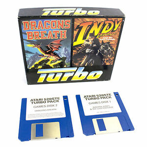 Indiana-Jones-and-the-Last-Crusade-amp-Dragon-039-s-Breath-for-Atari-ST-1989-Boxed