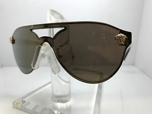 Versace Womens Sunglasses VE2161 1002F9 Gold//Brown Mirror Gold Aviator Authentic