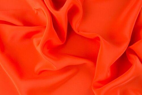 Orangetöne Meterware echte Seide Crepe de Chine 100/% Silk Stoffbreite 0,9m