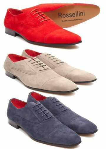 Men'S Multi color Faux Suede shoes Lace Up Pointed Casual shoes (Mario)