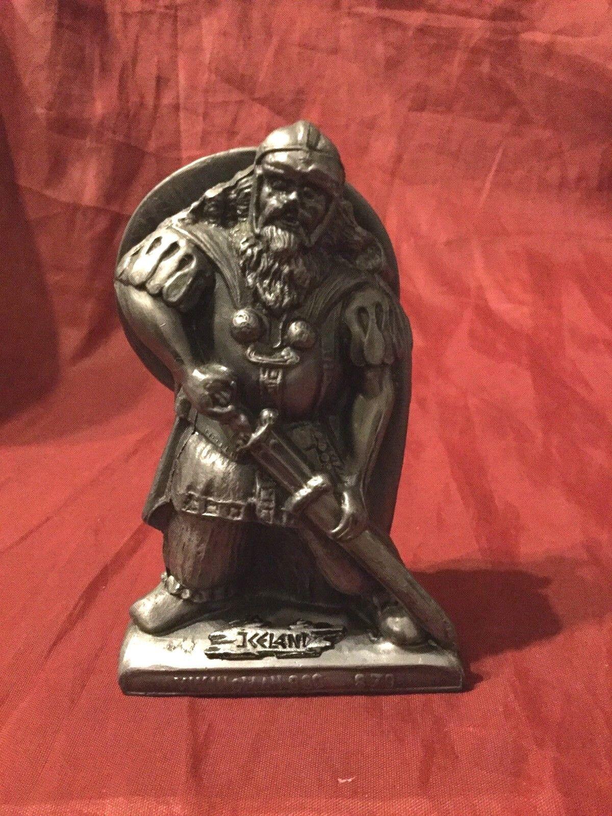 Rare Iceland Metal Viking Man 830 - 879 Figure