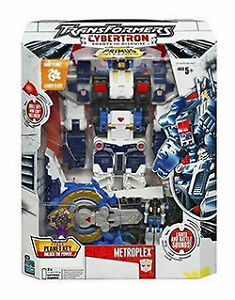 hasbro transformers cybertron leader class metroplex with drill bit