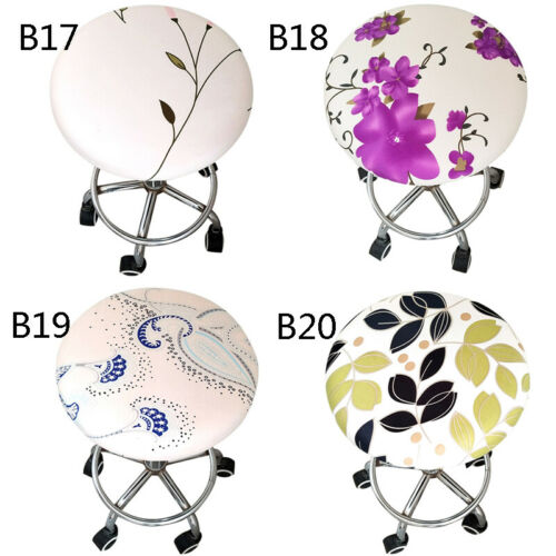 Living Room Bar Stool Covers Round Chair Seat Cushions Spandex Stretch Office