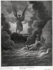 Gli Angeli Ribelli Satana e Belzebù Scacciati dal Paradiso. Di Doré. Milton.1887
