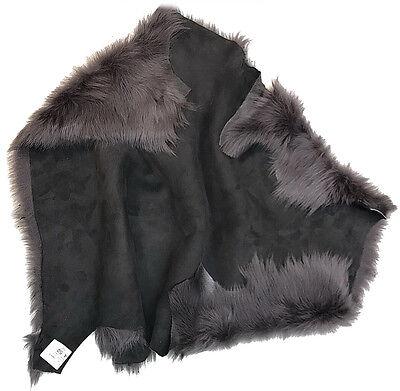 Collars, Garments Light Grey Sheepskin Toscana Silver Tip Lambskin Clothing