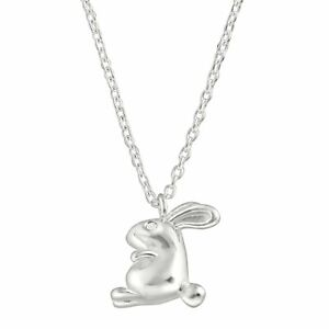 Silpada-Girl-039-s-039-Hoppy-Go-Lucky-039-Bunny-Pendant-with-Cubic-Zirconia-in-Sterling