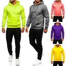Trainingsanzug Jogginganzug Sweatshirt Sporthose Unifarben Men Herren BOLF Basic