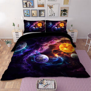 New Galaxy Duvet Cover With Pillow Cases Quilt Cover-Single-Double-King Sizes