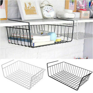Wall-Hanging-Shelf-Basket-Holder-Storage-Organiser-Cupboard-Kitchen-Rack-Cabinet