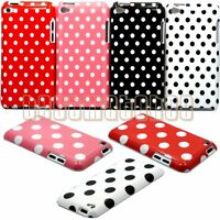 Fit Ipod Touch 4th 4 Th 4g Itouch Cute Case Cover Skin Polka Dots Red Pink Black