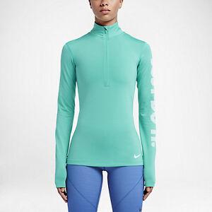 3dc338d2 Nike Pro Warm Women's Long Sleeve 1/4 Zip Up Jacket Top Hyper Jade ...